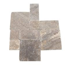 travertine andes gray paredon pattern floor and wall tile kit 6