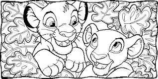 Small Picture Nala And Simba Together coloring page Free Printable Coloring Pages