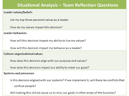 Situational Analysis Questions 9 24 Building Authentic Leadership By Innovating How You Lead