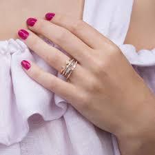dana rebecca 14k rose gold jeanie ann diamond ring r966 prev