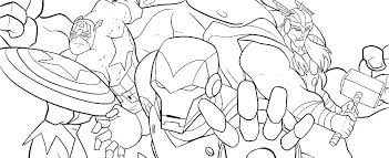 Marvel Coloring Pages Printable Color Superheroes Avengers Super