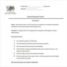 13 Standard Operating Procedure Templates Pdf Doc Free