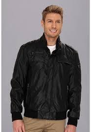 calvin klein faux leather er jacket