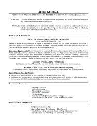 mechanical sample resume mechanical engineering resume template examples luxury