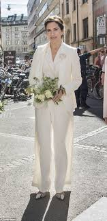 Princess Mary turns heads in sheer white pants in Sweden Daily.