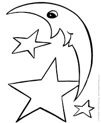 A Star Coloring Sheet Shooting Stars Coloring Pages Starfish Free