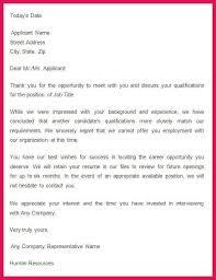 Job Rejection Letter Sample Sop Examples