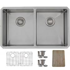 30 inch undermount double bowl 16 gauge stainless steel kitchen sink luxury basket strainer