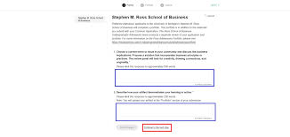 preparing your portfolio michigan ross step 6 enter your complete essay responses in the text boxes for each prompt click continue to the next step