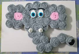 Elephant Cupcake Cake Omgs Cupcakes In 2019 Elephant Cupcakes