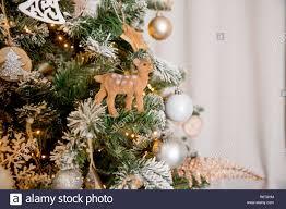 Innenraum In Weihnachten Stil Dekoriert Keine Menschen