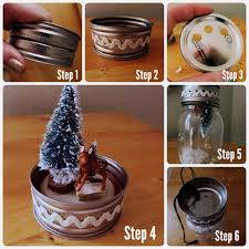 Mason Jars Decorated For Christmas DIY Light Up Mason Jar Christmas Scene 55