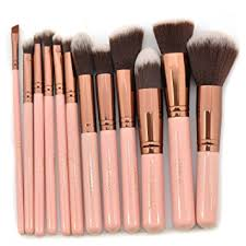 beauty creations professional 12 pcs makeup brush set with bag