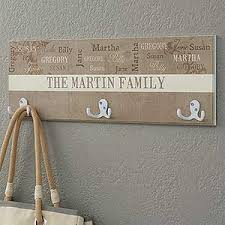 Personalized Family Coat Rack Personalized Coat Hanger Our Loving Family 19