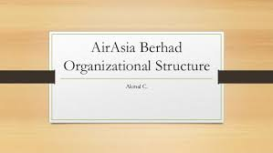 Air Asia Geographic Organizational Structure
