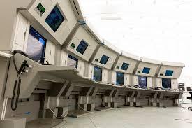Контрольный центр контроля власти обслуживаний воздушного движения   Контрольный центр контроля власти обслуживаний воздушного движения отсутствие людей Стоковое Изображение изображение насчитывающей средний
