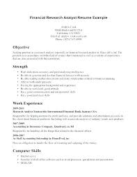 Research Analyst Resume Sample Research Analyst Resume Sample