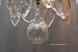 ref french crystal chandelier with candles and light fittings in the style of louis xv