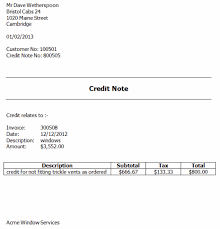 Sample Credit Note Invoice Credit Notes And Invoicing Software Credit Against An