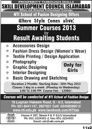 Short Courses NTI National Textile Institute Islamabad Impressive Short Courses Interior Design