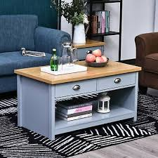 chic coffee table elevated wooden
