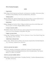 Example Of Literature Essays Mla Style Essay Template Gulflifa Co
