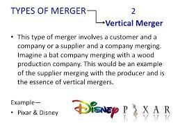 Vertical Merger Example Example Vertical Merger Companies