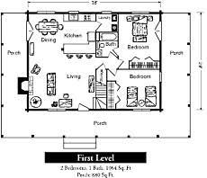 Floor Open Floor House Plans One Story  LansikejiorgCabin Floor Plans