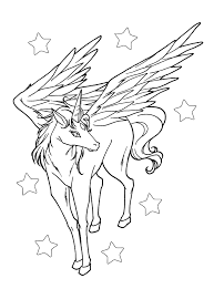 Unconditional Pegasus Colouring Pages Baby Col 20452