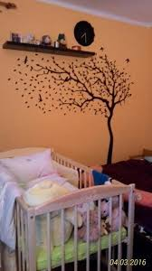 huge white tree wall decal nursery tree and birds wall art baby kids room wall sticker