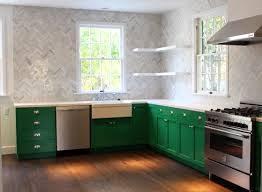 once upon a time by benjamin moore green cabinets herringbone