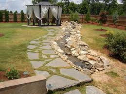flagstone landscaping. Feature With Flagstone Simpsonville, Flagstone Landscaping