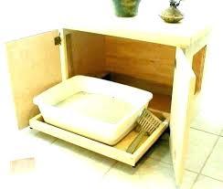 hideaway litter box boxes in bathroom cabinet cat hiding