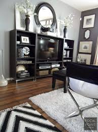 FOCAL POINT STYLING THRIFTED CHIC BLACK & WHITE LIVING ROOM on