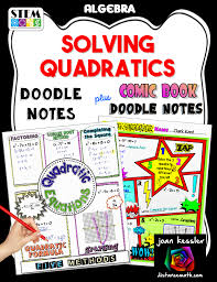 solving quadratic equations doodle notes for algebra it has been shown that doodling and working with fun themed activities help students engage with the