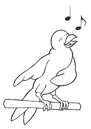 Kleurplaat Zingende Vogel Afb 19450 Images