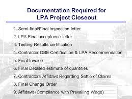 Closing Out A Federal Aid Construction Project Missouri Local