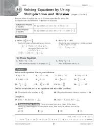 solve multi step equations worksheet