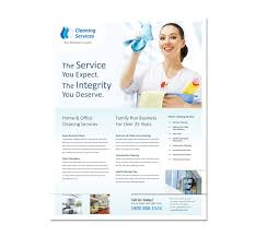 Housekeeping Flyers Templates Cleaning Janitorial Services Flyer Template Janitorial Brochure