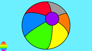 Small Picture Learn Colors with Beach Ball Coloring Pages for Kids and Children