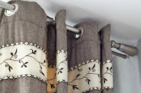 the soft deep folds in eyelet curtains are designed to hang in tall slim columns and therefore the curtain hem should not be allowed to touch or knock up