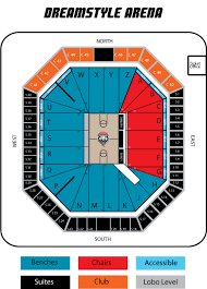 University Of New Mexico Football Stadium Seating Chart Dreamstyle Arena Section Views Unm Tickets
