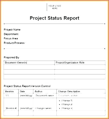 Status Template Weekly Project Status Report Template Excel Best Of