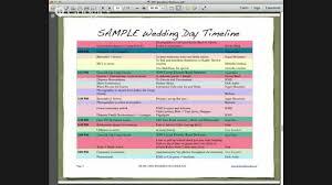 Wedding Day Timeline Excel Diy Wedding Webinar Creating A Professional Wedding Day Timeline