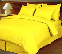 ultra soft cotton striped yellow king size bed sheet by ibed 3 piece set souq uae