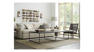 crate and barrel living room ideas. Ordinary Extra Long Sofas #9 - Lounge II 93quot Sofa Taft Cement Crate And Barrel Living Room Ideas Y