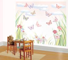 baby girl bedroom decorating ideas. Bedroom Wall Decoration Ideas With Butterfly Canvas Painting As Eye Catching Main Factor Baby Girl Decorating G