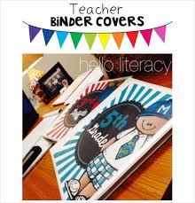 Teacher Binder Templates Binder Cover 27 Free Printable Word Pdf Jpg Psd Format