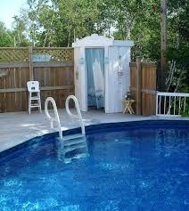outdoor pool shower ideas enclosures