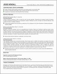 Real Estate Appraiser Resume Examples Free Download